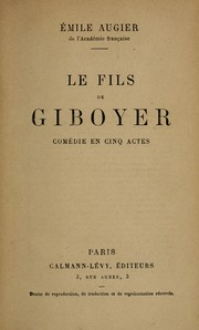Cover of: Le fils de Giboyer
