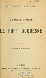 Cover of: Le Fort Duquesne