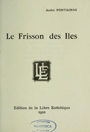 Cover of: Le frisson des iles