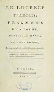 Cover of: Le Lucrèse français