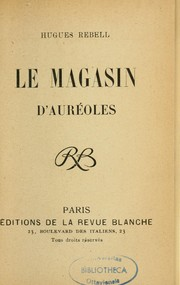 Cover of: Le Magasin d'auréoles