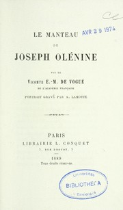 Cover of: Le manteau de Joseph Olénine