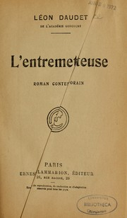 Cover of: L'entremetteuse