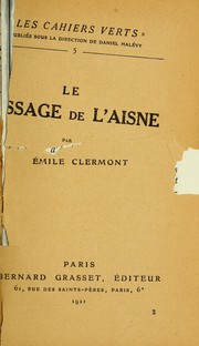 Cover of: Le passage de l'Aisne