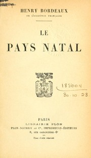 Cover of: Le pays natal