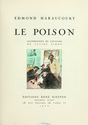 Cover of: Le poison