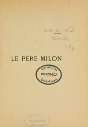 Cover of: Le père Milon: contes inédits