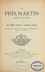 Cover of: Le prix Martin