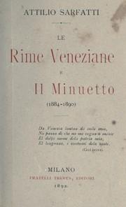 Le rime veneziane e Il minuetto, 1884-1890