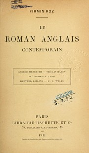 Cover of: ... Le roman anglais contemporain ..