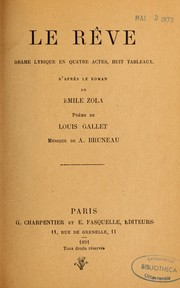 Cover of: Le Rêve