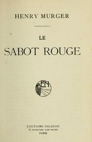 Cover of: Le sabot rouge