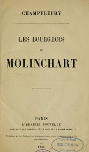 Cover of: Les bourgeois de Molinchart