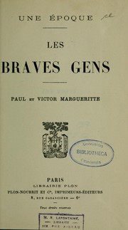 Cover of: Les braves gens