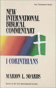 Cover of: 1 Corinthians | Marion L. Soards