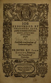 Cover of: Job expounded by Theodore Beza