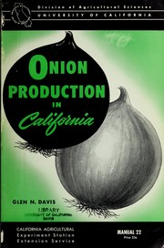 Cover of: Onion production in California