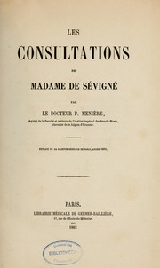 Cover of: Les Consultations de madame de Sévigné