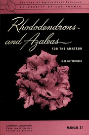 Cover of: Rhododendrons and azaleas for the amateur