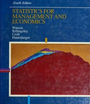Cover of: *Statistics Mgmt Economics | WATSON ET AL