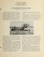 Cover of: A transport buck rake | C. E. Barbee