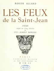 Cover of: Les feux de la Saint-Jean