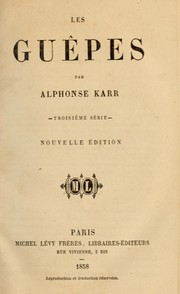 Cover of: Les guêpes