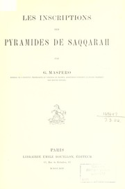 Cover of: Les inscriptions des pyramides de Saqqarah
