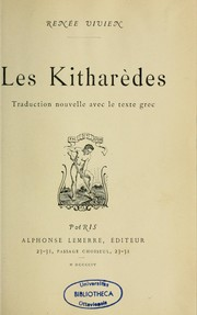Cover of: Les Kitharèdes