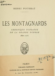 Cover of: Les Montagnards