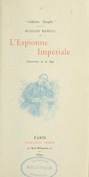 Cover of: L'Espionne impériale