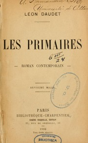 Cover of: Les primaires