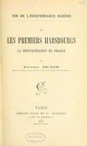 Cover of: Les premiers Habsbourgs