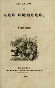 Cover of: Les rayons et les ombres
