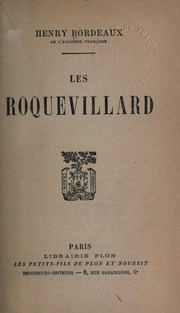 Cover of: Les Roquevillard, roman