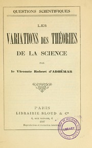 Cover of: Les variations des théories de la science