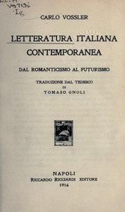 Cover of: Letteratura italiana contemporanea