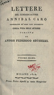 Cover of: Lettere