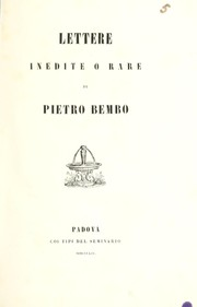 Cover of: Lettere inedite or rare