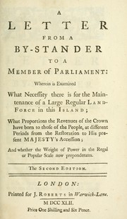 Cover of: A letter from a by-stander to a member of Parliament | Corbyn Morris