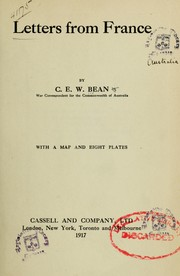 Cover of: Letters from France