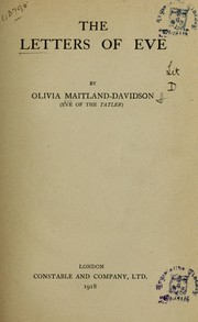 Cover of: The letters of Eve | Olivia.* Maitland-Davidson