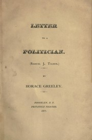 Cover of: Letter to a poltician
