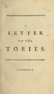 Cover of: A letter to the Tories | Lyttelton, George Lyttelton Baron