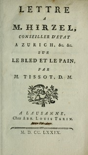 Cover of: Lettre a M. Hirzel