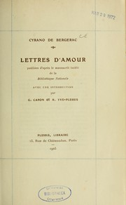 Cover of: Lettres d'amour