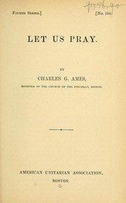 Cover of: Let us pray