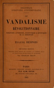 Cover of: Le vandalisme révolutionaire