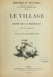 Cover of: Le village