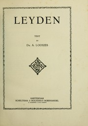 Cover of: Leyden | A. Loosjes